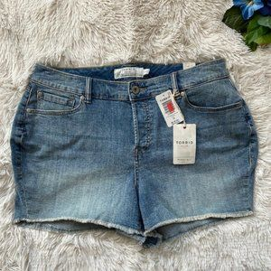 Torrid High Rise Denim Cutoff Jean Shorts NWT